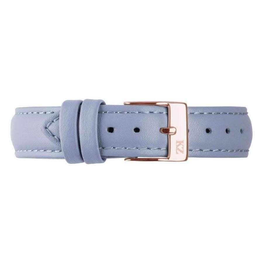 Blue Leather Strap Rose Gold