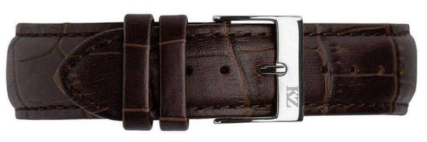 Brown Crocodile Leather Strap Steel