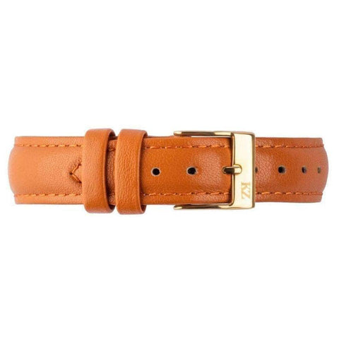 Brown Leather Strap Gold