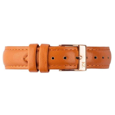 Brown Leather Strap Rose Gold
