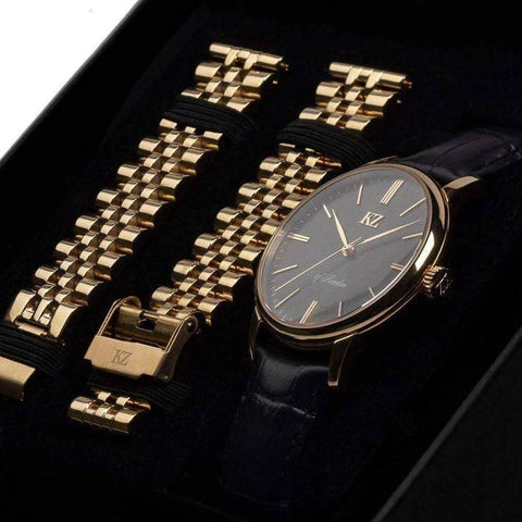 Gold Signature Watch Black