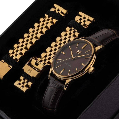 Gold Signature Watch Brown