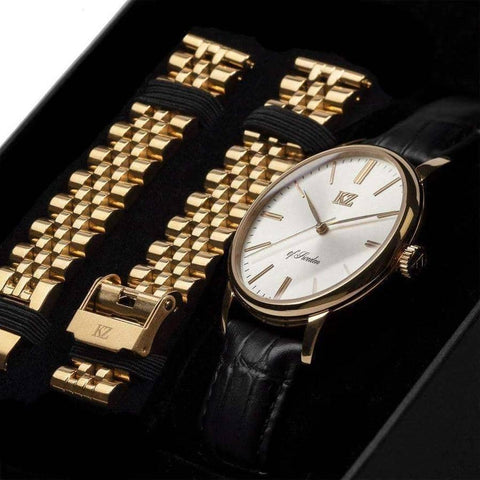 Gold Signature Watch White