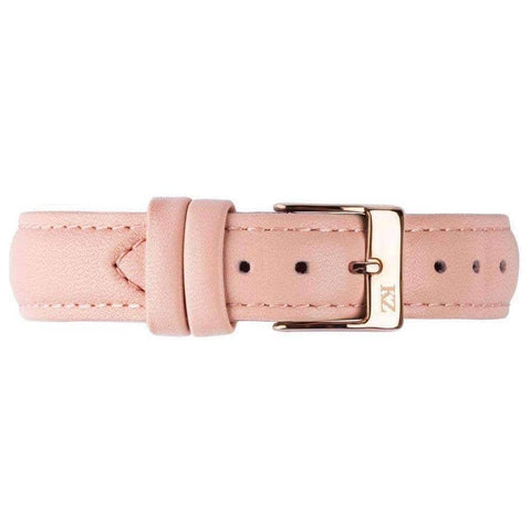 Pink Leather Strap Rose Gold