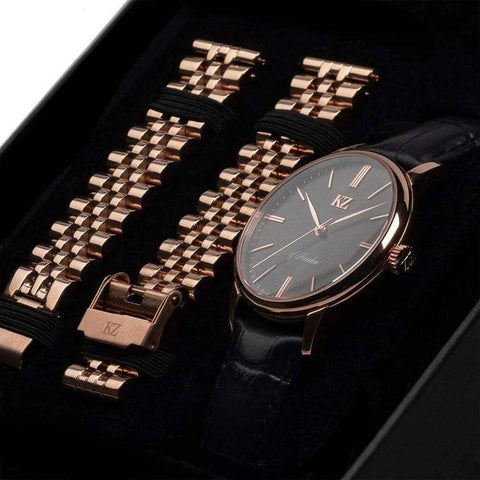 Rose Gold Signature Watch Black