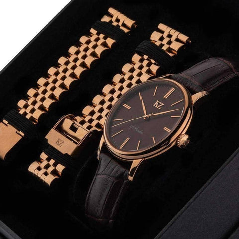 Rose Gold Signature Watch Brown