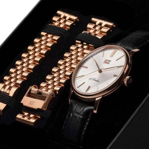 Rose Gold Signature Watch White