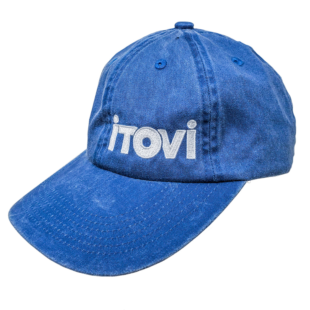 Port Authority Hat Steel Blue, White iTOVi Logo