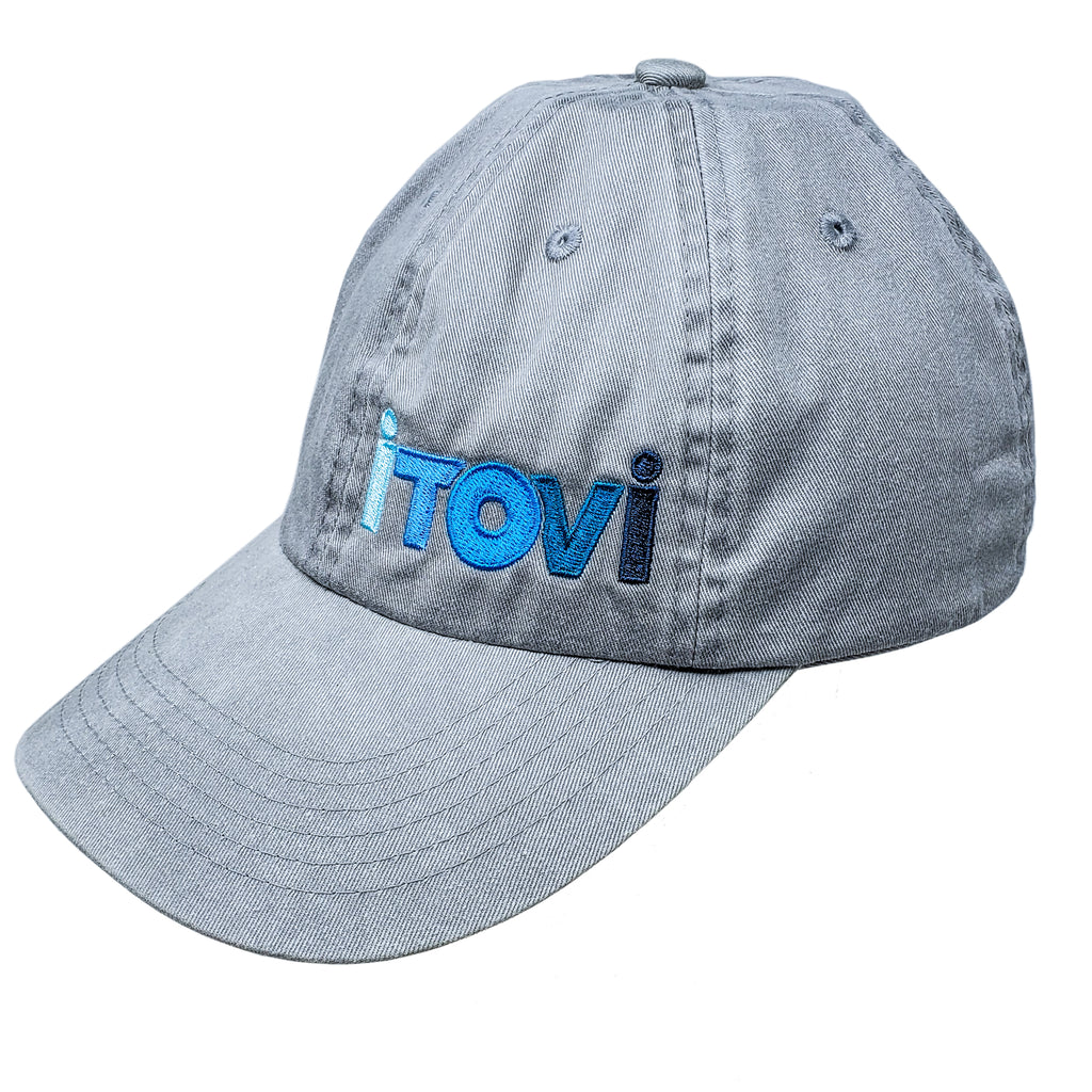 Port Authority Hat, Chrome with Gradient iTOVi Logo