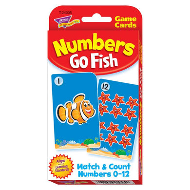(12 Ea) Challenge Cards Numbers Go Fish