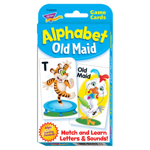 (6 Pk) Alphabet Old Maid Challenge Cards