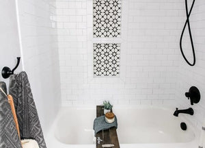 A tiny bathroom might be the inspiration behind your desire to have a farmhouse bathroom decor or it just might be your undying love for all things rustic