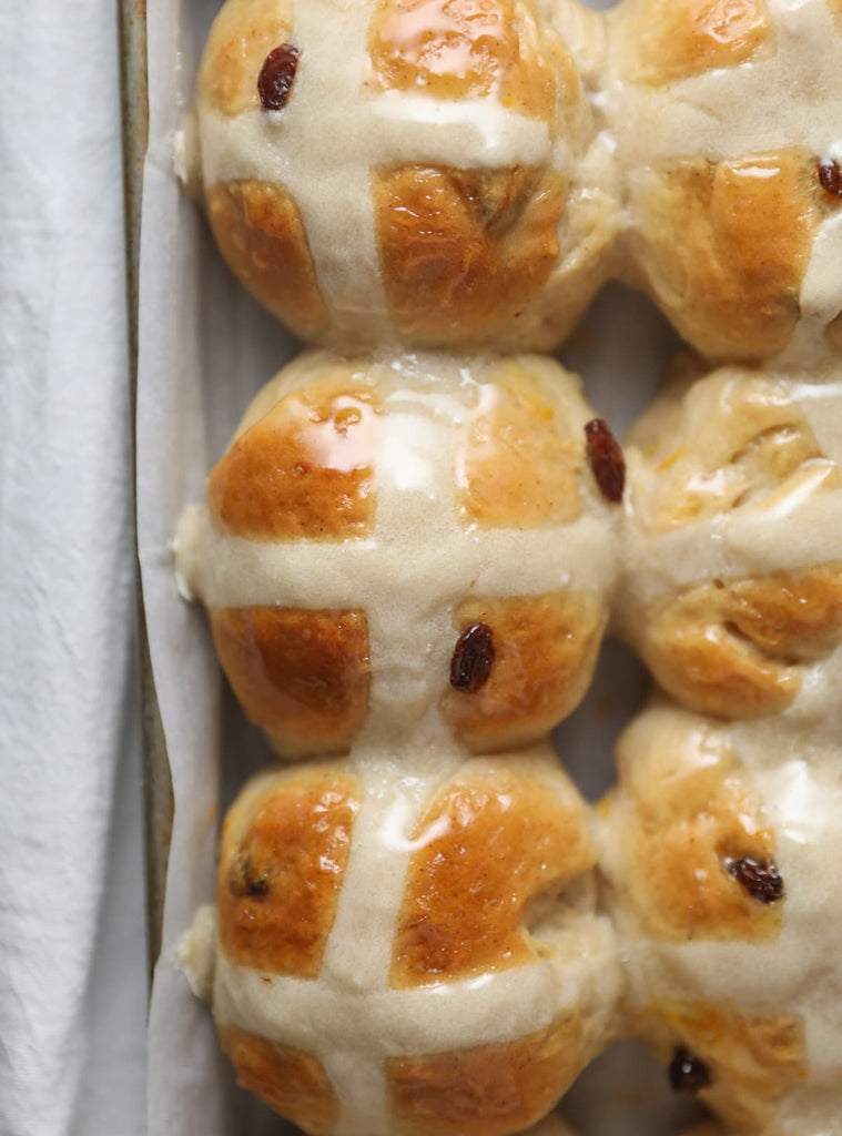 The perfect blend of sweet and spice, enjoy these classic Hot Cross Buns this Easter season