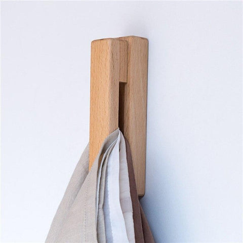 Wooden Towel Holder Hook