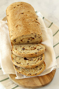 This Cinnamon Oatmeal Bread recipe makes two loaves of bread to enjoy!