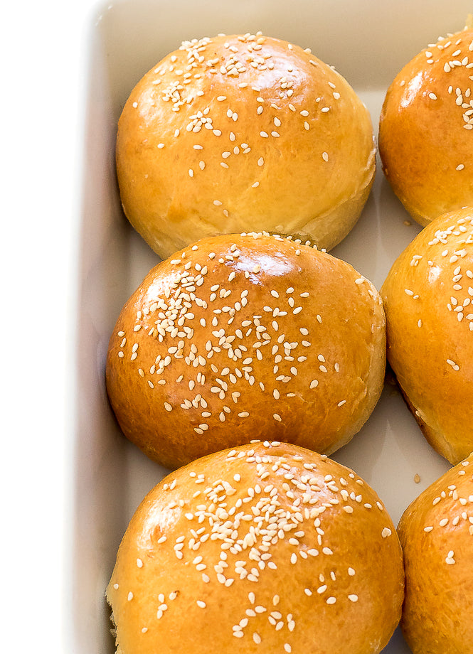 Learn how to make Burger Buns at home! All you need are a few pantry staples to make soft and buttery homemade burger buns! These are so much better than store bought!