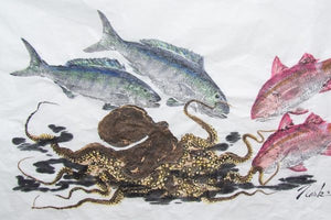 How the Traditional Japanese Art of Fish Printing Inspired a Modern Art Form