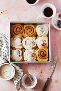 Do you literally dream of warm, gooey cinnamon rolls at night?  With this recipe you can make these dreams come true and eat fresh-out-of-the-oven Overnight Pumpkin Cinnamon Rolls in your pajamas without having to wake at dawn!