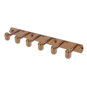 Allied Brass TA-20-6-BBR Tango Collection 6 Position Tie and Belt Rack, Brushed Bronze