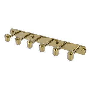 Allied Brass TA-20-6 Tango Collection 6 Position Tie and Belt Rack Decorative Hook, Unlacquered Brass