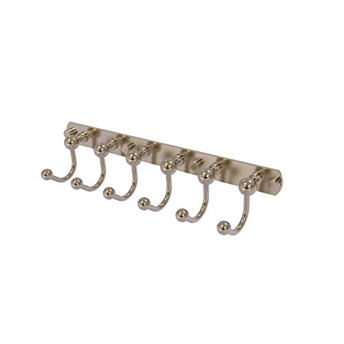 Allied Brass P1020-6-PEW Prestige Skyline Collection 6 Position Tie and Belt Rack, Antique Pewter