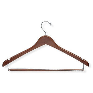 Contoured Suit Hanger with Locking Bar (Set of 6) [Set of 2]