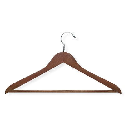 Basic Suit Hanger with Non Slip Bar [Set of 2]