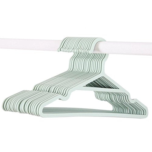 5pcs Non-slip Plastic Coat Pants Clothes Hanger Home Groove Drying Rack