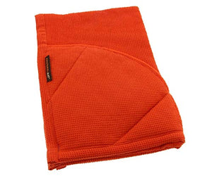 Rachael Ray Kitchen Towel and Oven Glove Moppine – A 2-in-1 Ultra Absorbent Kitchen Towel with Heat Resistant Pot-Holder Padded Pockets to Handle Hot Cookware and Bakeware ,Orange