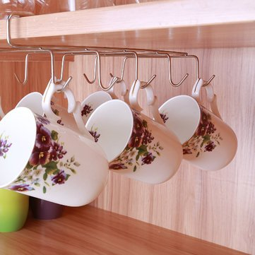 Closet Dangling Bait - Hook Stainless Steel Kitchen Storage Rack Cupboard Hanging Shelf Dish Hanger Chest - Shot Crotchet Suspension Glom Wall Mitt Pendant Hand Knock Come-On - 1PCs