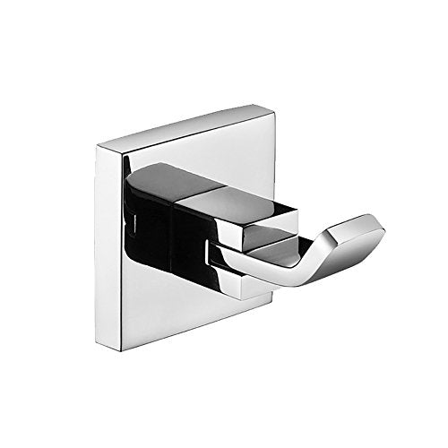 JYPHM Wall Mount/Coat Hook Towel Hooks for Bathroom Kitchen Stainless Steel Heavy Duty Square Style Polished Finish
