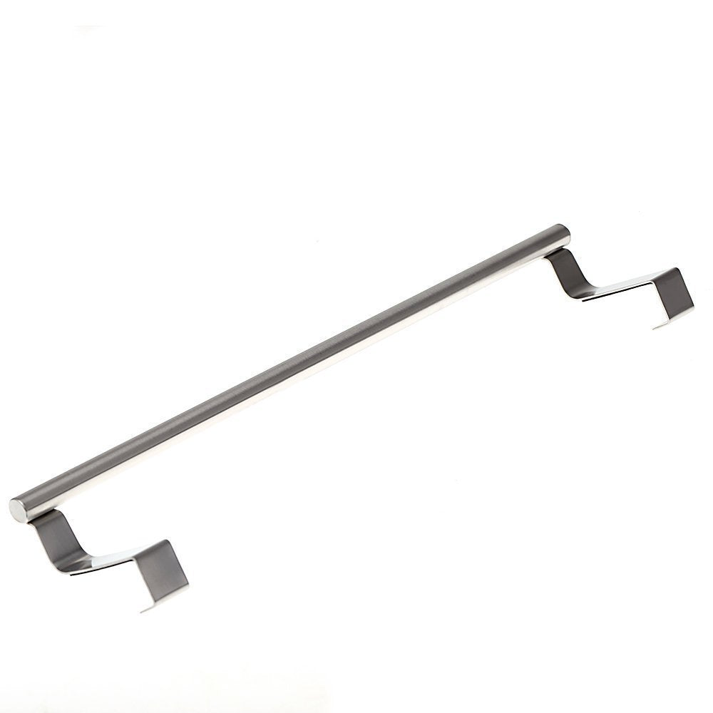 TOOGOO(R)Stainless Steel Towel Bar Holder Over the Kitchen Cabinet Cupboard Door Hanging Rack Silver
