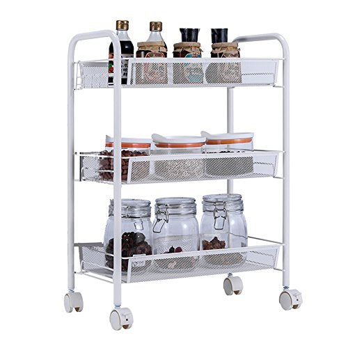 Zhihui Bathroom Shelves ZZHF yushizhiwujia Kitchen Rack Floor Multi-Layer Movable carts Vegetable Belt Wheel Storage Rack Multi-Function