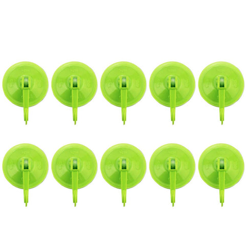 10 Pcs Bathroom Kitchen Suction Cup Wall Hooks Hangers, Home Storage Hooks Caps & Towels Plastic Holder Organizer Bathrobe Suit And Loofah For Wreath, Window, Mirror, Glass