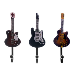 3pieces/Set Antique Music Wall Mounted Hook Kitchen Hanger Decorative Guitar Coat Hooks Unique Gift for Music Lover