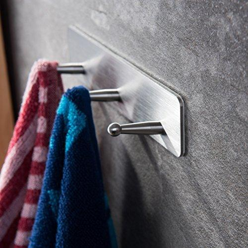 Venagredos Self Adhesive Hooks Rack Hooks Towel Hooks Bath Coat Robe Hooks Bathroom Kitchen Hooks Hand Dish Key Stick on Wall
