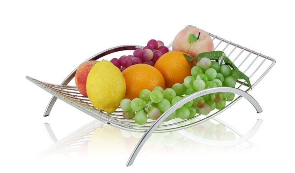 Countertop Fruit Basket Holder and Decorative Bowl Stand, Perfect for Fruit, Vegetables, Snacks, Household Items, and Much More
