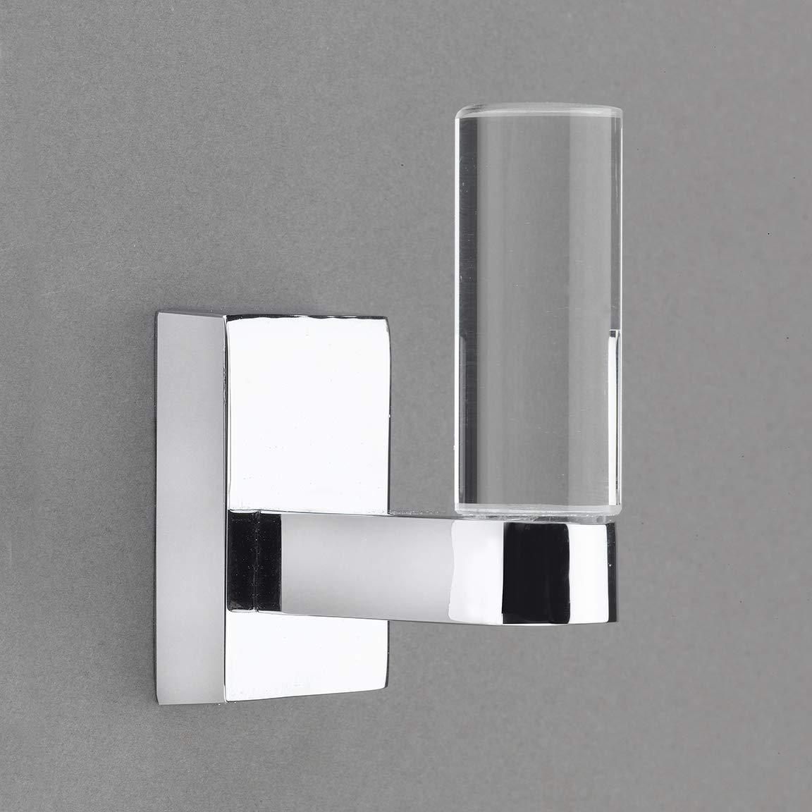 Belle Crystal Collection Polished Chrome Towel Hook/Robe Hook - Good for Kitchen, Bathroom, Bedroom, Or Closet Hardware - 	P100-12/4557