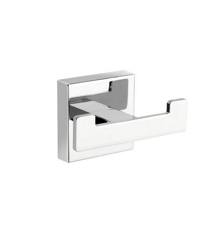 Aqua Plato, Kubebath, Chrome Double Towel Hook