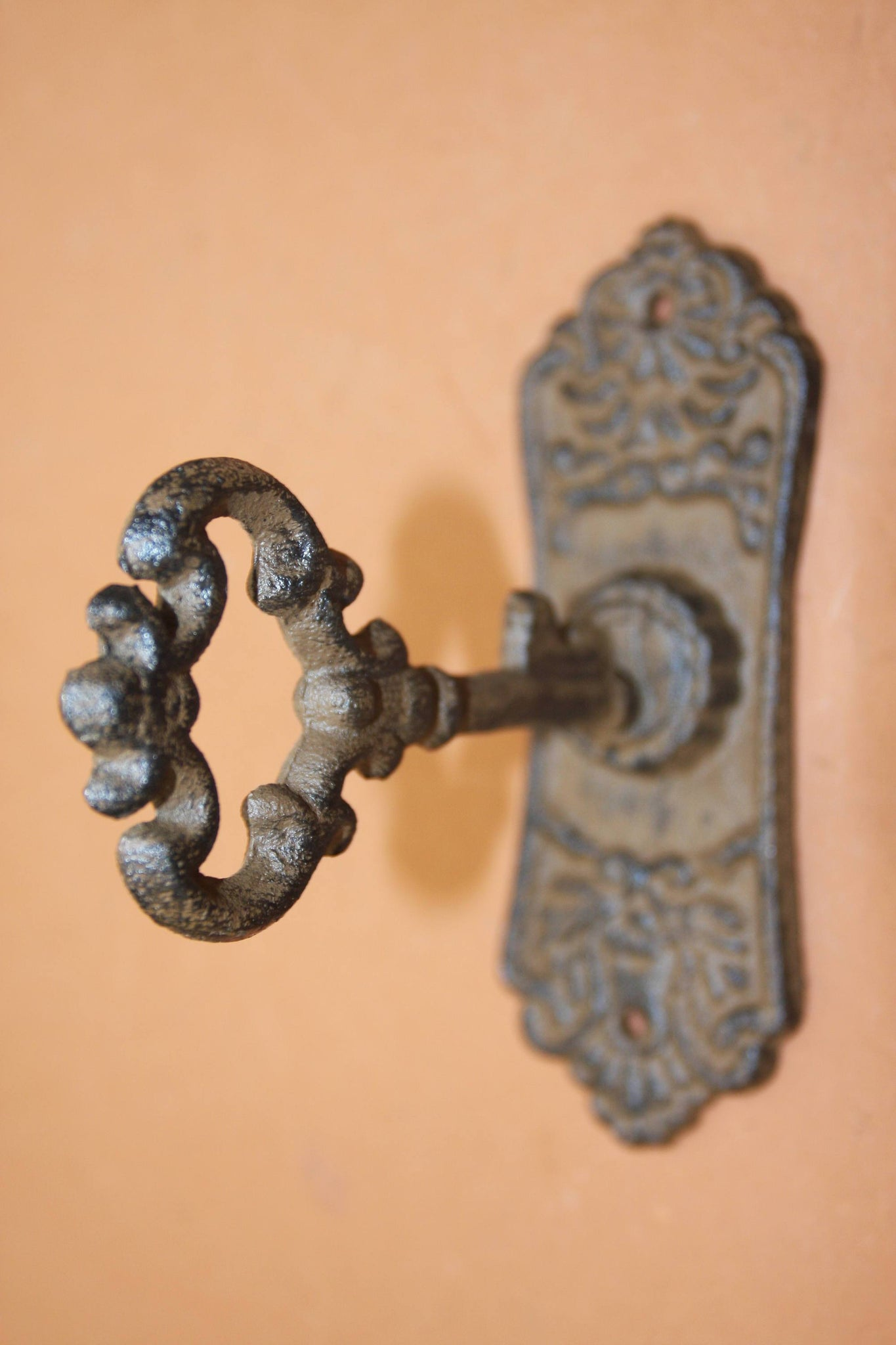 "Old Fashion Skeleton Key Design Bath Towel Hooks, Cast Iron 4"" high, 6"" long, Free Shipping, HW-04"