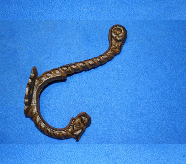"Vintage-look Victorian Bath Towel Hooks, Cast Iron ~ 6 3/4"" tall, Volume Priced, H-44"