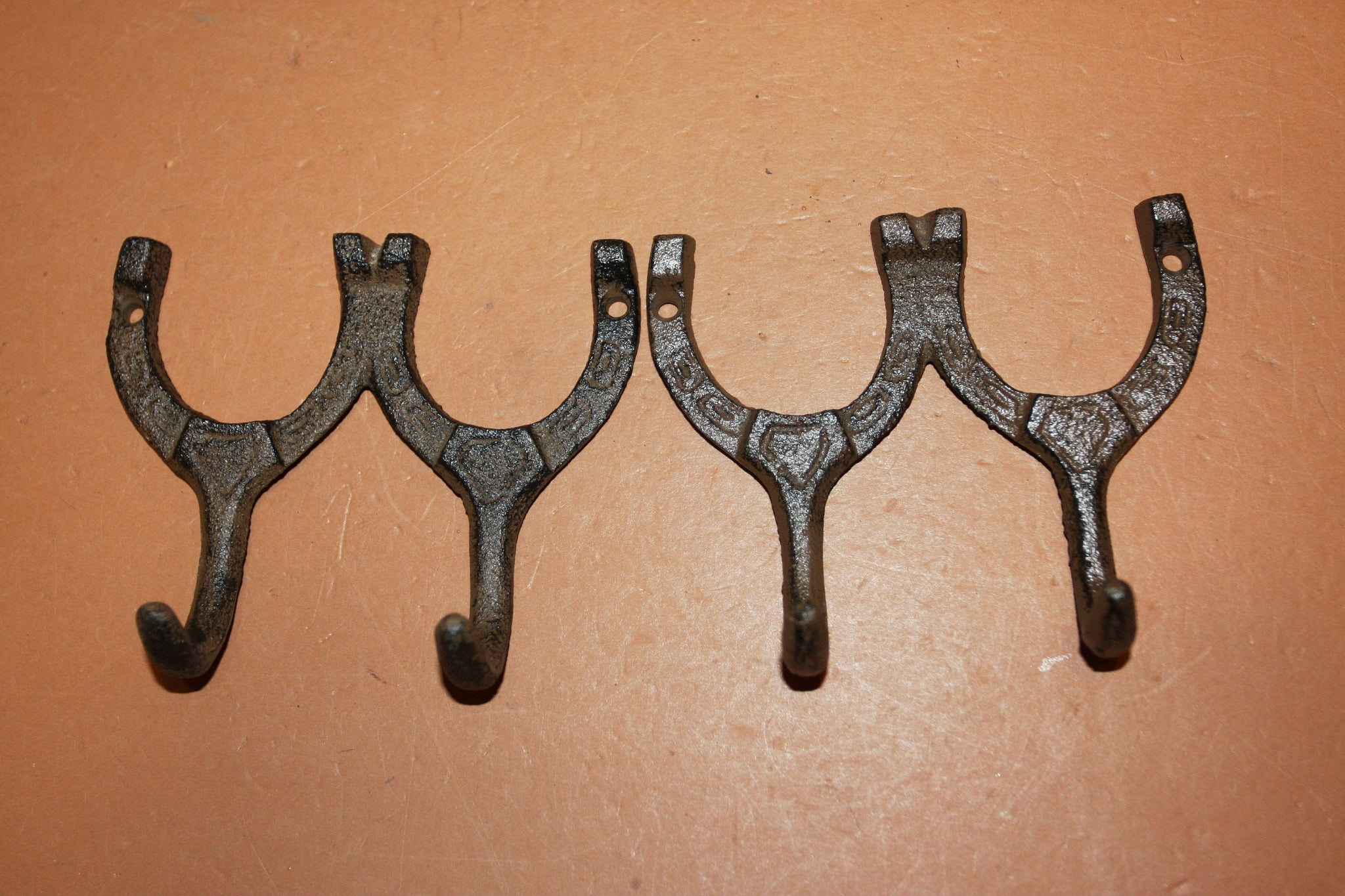 Horseshoe Towel Hooks, Cast Iron 4 inch Volume Priced, W-9