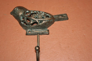 Wild Bird Towel Hooks Cast Iron 5 inch Volume Priced, H-78