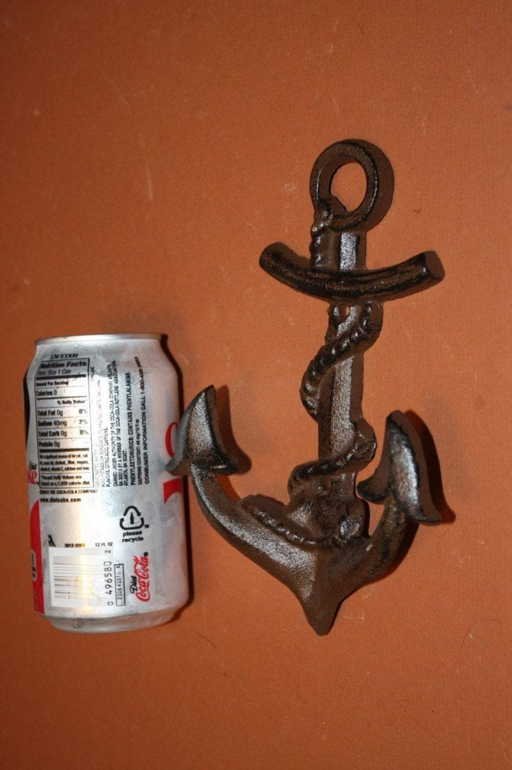 12) pcs, Anchor Wall Hook, Nautical decor for the home, Nautical decor for the bath, anchor towel hook, anchor hat hook,, N-26~