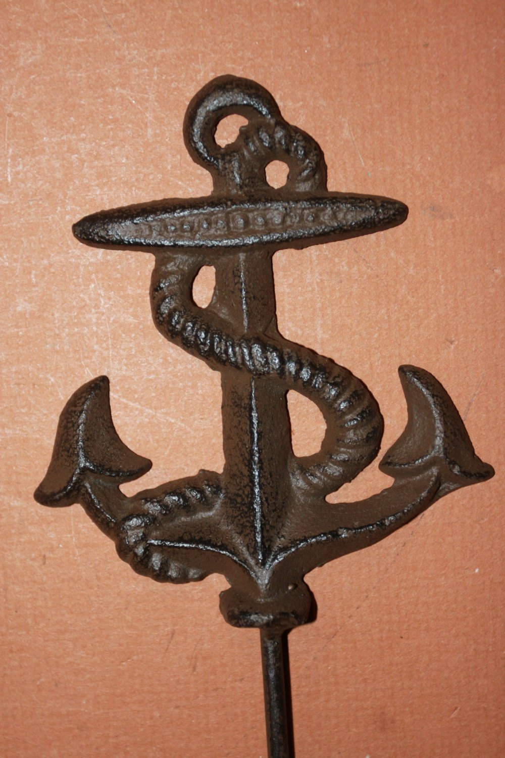 4 pieces) Set of 4 cast iron anchor hooks,6 3/4 inches, free shipping, anchor coat hook, anchor hat hook, anchor towel hook, N-48