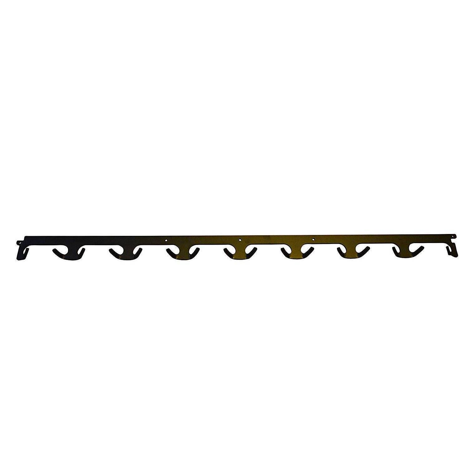 "OFG - Black Modern 27"" Long Metal Industrial Coat Rack w/ 9 Hooks"