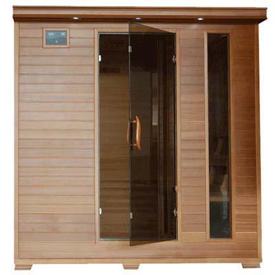 Pure Heat 6 Person Cedar Carbon Sauna