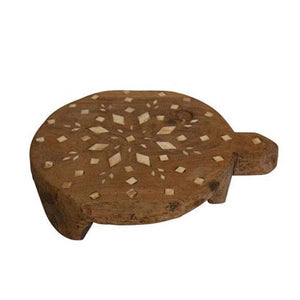Wooden Inlay round cheese board