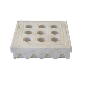 Marble Candle Holder Square