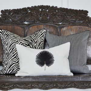 Turkish Cotton Velvet Zebra - Black/White